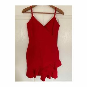 Lulus red cocktail dress